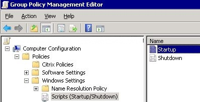 Group Policy Management Console startup/shutdown scripts