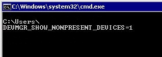 Environment variable DEVMGR_SHOW_NONPRESENT_DEVICES