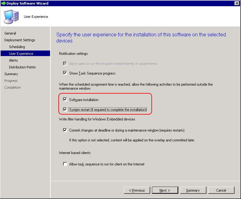 Deploy SCCM task sequence - step 5