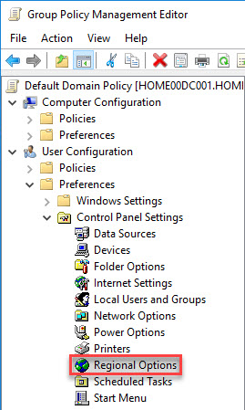 Citrix License Server unattended installation with PowerShell and SCCM - Set region format English in Group Policy Preference