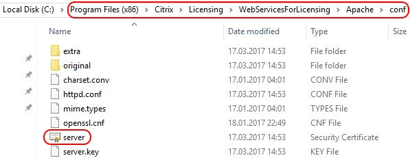 Citrix License Server unattended installation with PowerShell and SCCM - Self-signing server certificate