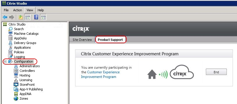 Citrix Delivery Controller unattended installation with PowerShell and SCCM - Disable CEIP in Studio