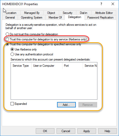 Citrix Director unattended installation - Choose unconstrained or constrained delegation