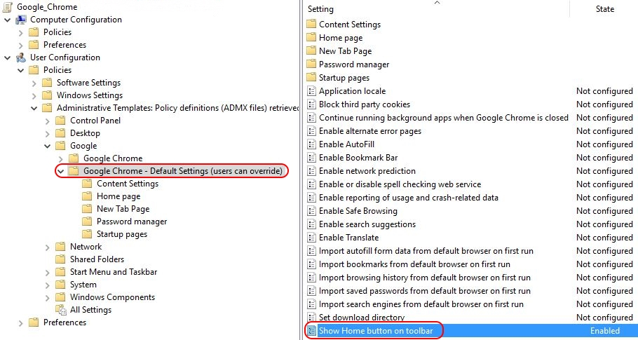 Google Chrome on Citrix deep-dive - Chrome policies default settings users can override