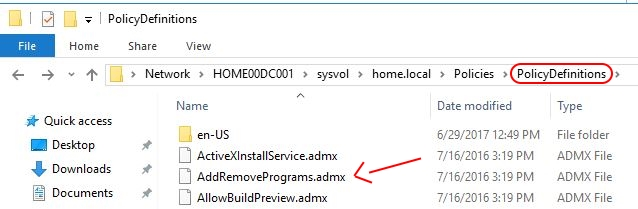 Google Chrome on Citrix deep-dive - Group Policy Central Store ADMX files