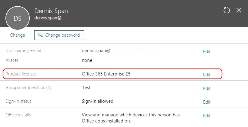 Solving Office 365 activation issues - Admin portal user product licenses