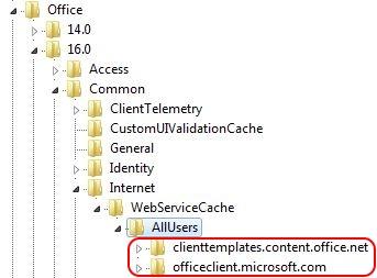 Solving Office 365 activation issues - Office 365 registry HKCU internet