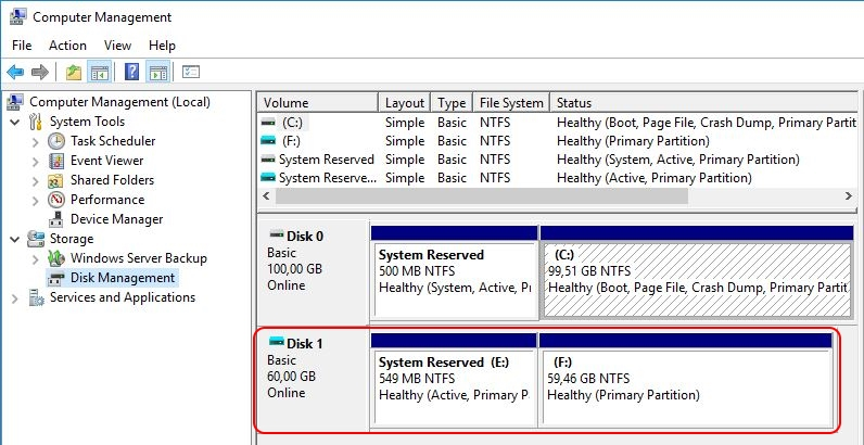 Automate VHD Offline Defrag for Citrix Provisioning Server - Computer Management VHD attached
