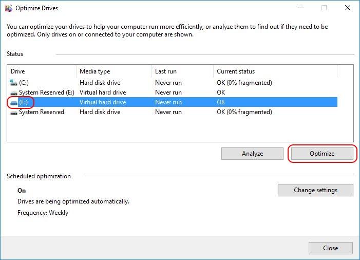 Automate VHD Offline Defrag for Citrix Provisioning Server - Computer Management defrag drive