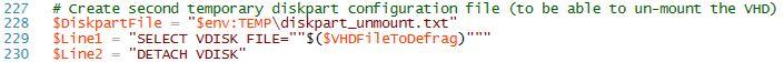 Automate VHD Offline Defrag for Citrix Provisioning Server - PowerShell script part