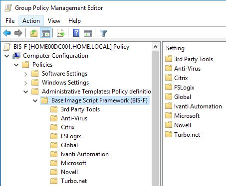 How to configure and run BIS-F in an SCCM task sequence - BIS-F Group Policies