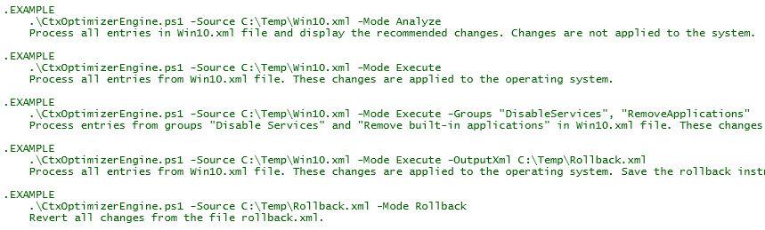 Image Optimization Tools Comparison Matrix - Citrix Optimizer command line switches