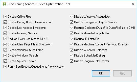 Image Optimization Tools Comparison Matrix - Citrix Provisioning Services Optimization Tool