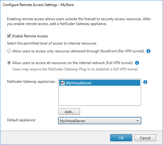 Translating the Citrix StoreFront console to PowerShell - Configure Remote Access Settings
