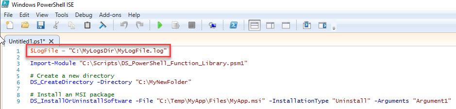 Powershell function library dennis span powershell function library define custom logfile in script maxwellsz