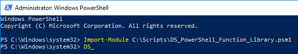 PowerShell function library - Scroll through functions using the TAB key
