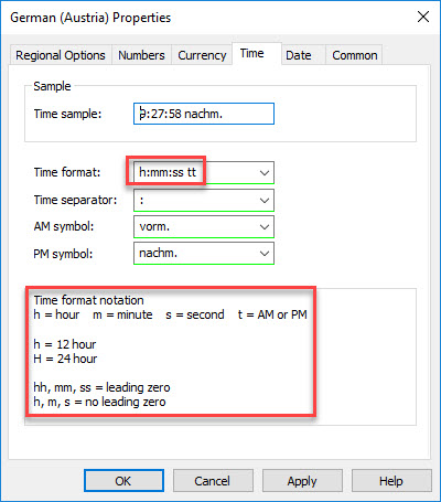 Configuring Regional Settings and locales with Group Policy - Regional Settings Group Policy Preference Time tab