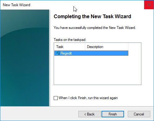 Creating a custom management console for your Citrix tools - Create new taskpad view - new shell command complete wizard