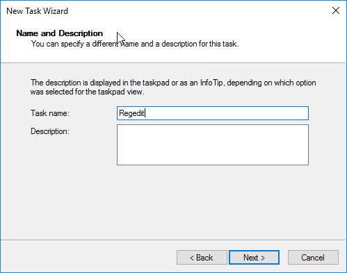 Creating a custom management console for your Citrix tools - Create new taskpad view - new shell command name and description