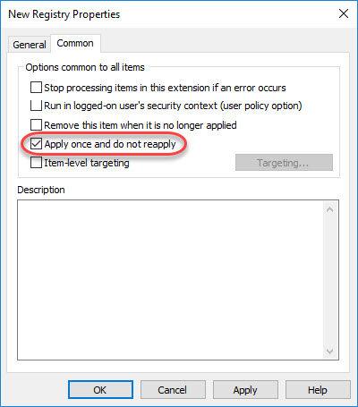 Managing Windows Languages and Language Packs - Group Policy Preference Apply once and do not reapply