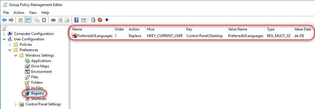 Managing Windows Languages and Language Packs - Group Policy Preference preferred Windows display language
