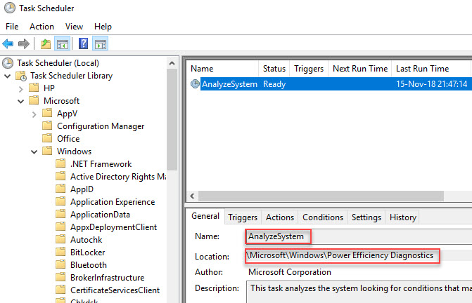 Creating a custom template for Citrix Optimizer - Scheduled task name and location