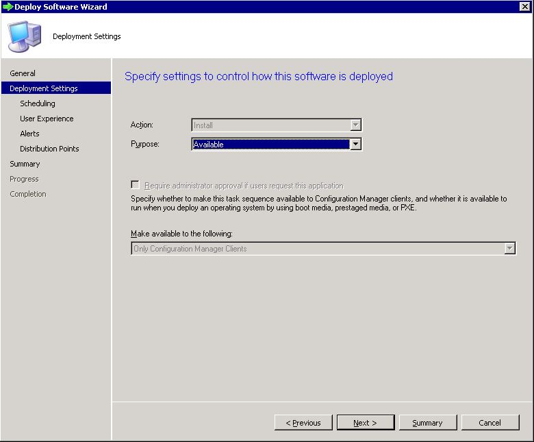 Deploy SCCM task sequence - step 3