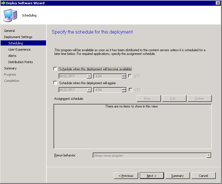 Deploy SCCM task sequence - step 4