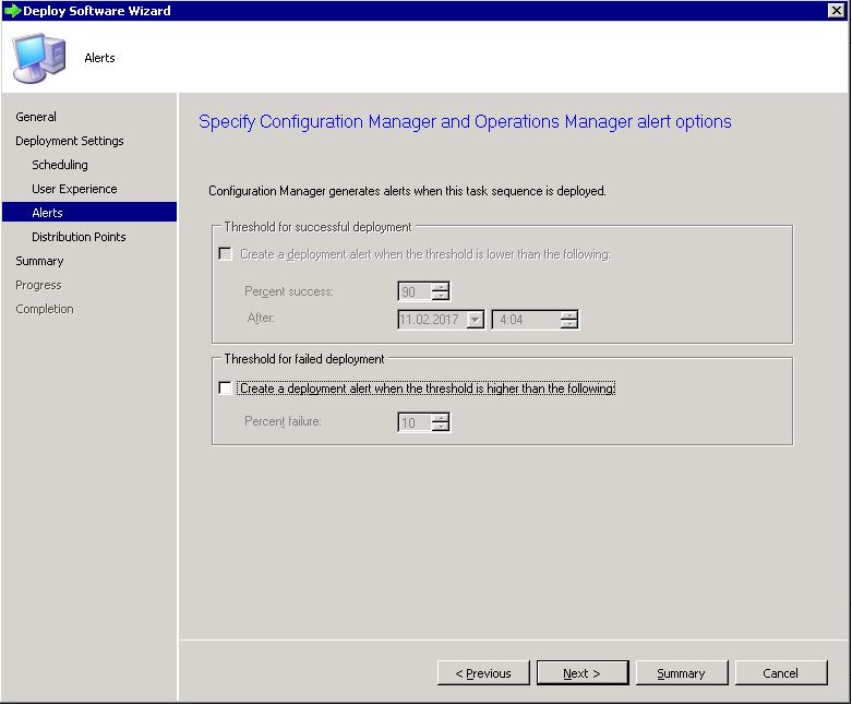 Deploy SCCM task sequence - step 6