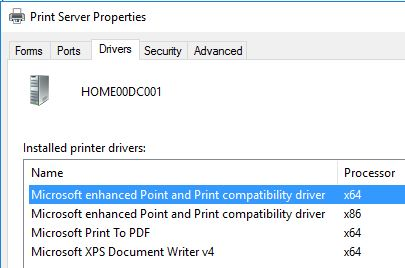 Printer Drivers Installation and Troubleshooting Guide - List of installed printer drivers