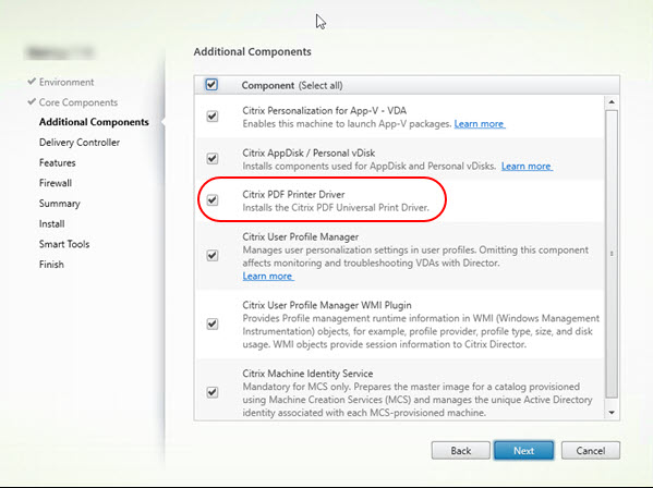 Scripting the complete list of Citrix components with PowerShell - PDF Printer part of VDA per default
