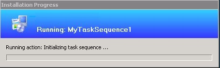 Test SCCM - running task sequence