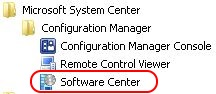Test SCCM package Software Center