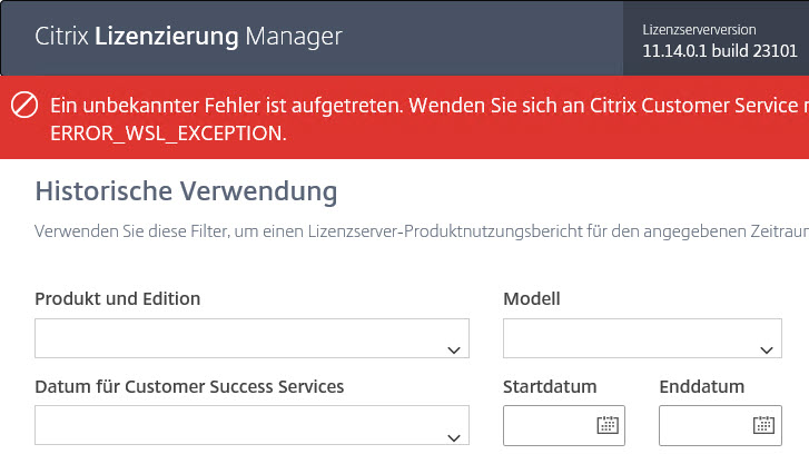 Citrix License Server unattended installation with PowerShell and SCCM - Error after opening the Citrix License Manager