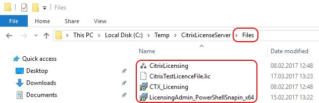 Citrix License Server unattended installation with PowerShell and SCCM - Source files