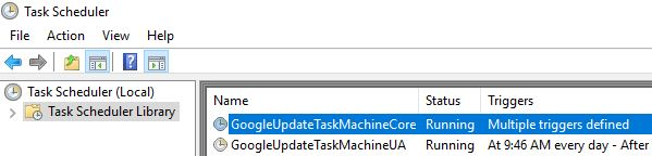 Google Chrome on Citrix deep-dive - Google Chrome scheduled tasks