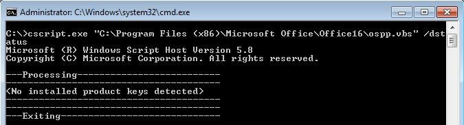 Solving Office 365 activation issues - Microsoft Office OSPP.vbs without licenses