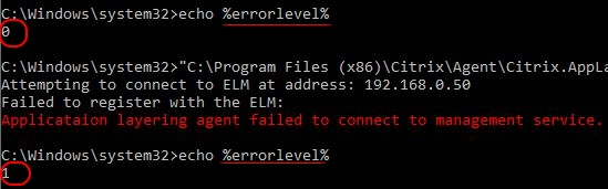 Citrix App Layering Agent unattended installation - ELM registration error
