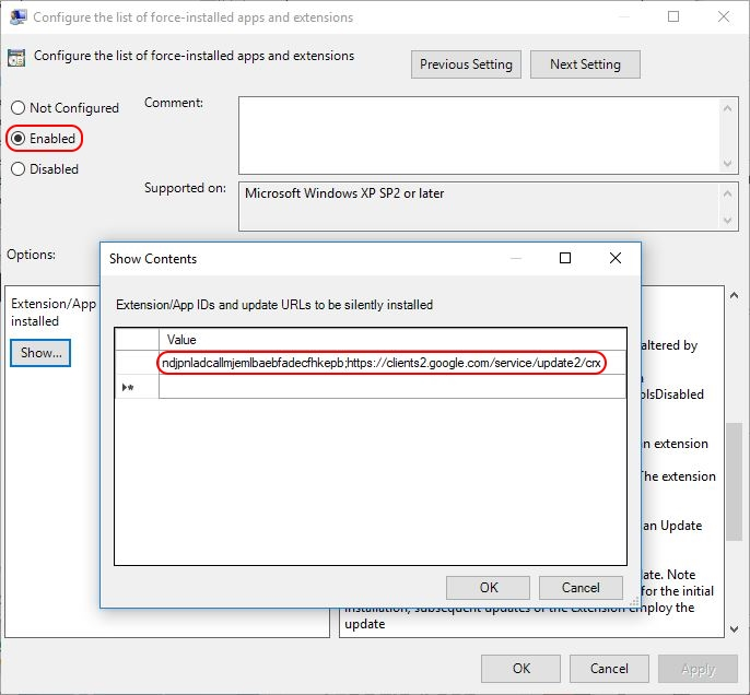 Deploying Google Chrome extensions using Group Policy - Dennis Span