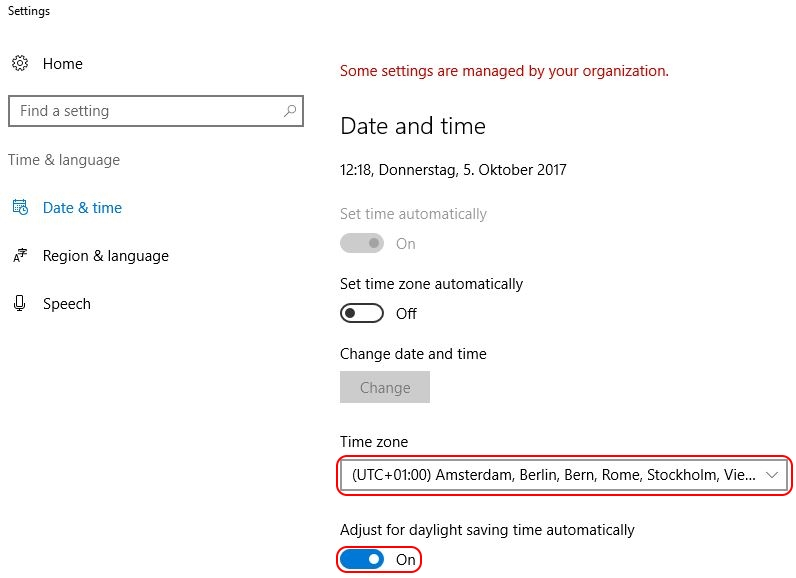 Configuring the time zone and code page with Group Policy - Date and time settings including time zone