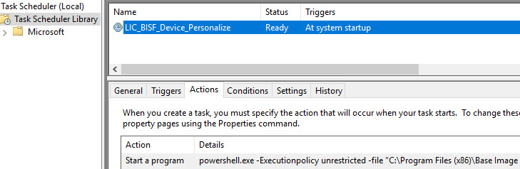How to configure and run BIS-F in an SCCM task sequence - BIS-F personalization scheduled task