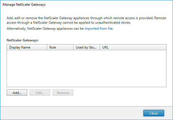Translating the Citrix StoreFront console to PowerShell - Manage NetScaler Gateways