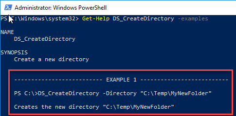 PowerShell function library - Import-Module and Get-Help examples