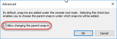 Creating a custom management console for your Citrix tools - Allow changing the parent snap-in