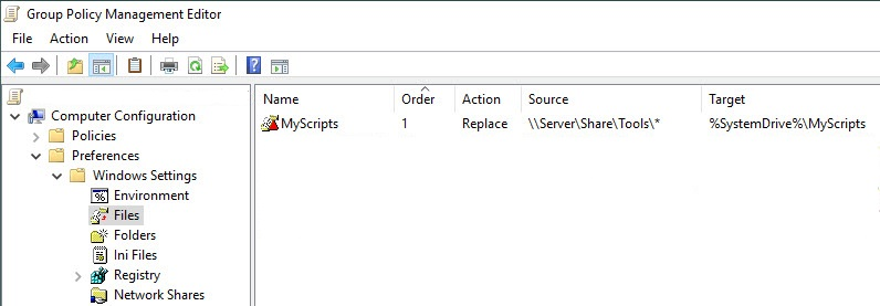 Creating a custom management console for your Citrix tools - Group Policy Preference main copy files