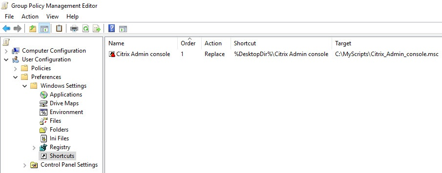 Creating a custom management console for your Citrix tools - Group Policy Preference shortcut