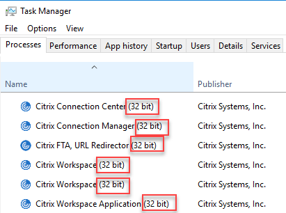Citrix Workspace App unattended installation with PowerShell - All Workspace App processes are 32-bit