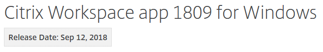 Citrix Workspace App unattended installation with PowerShell - Download page file version 1809