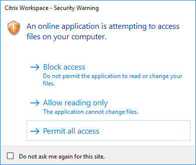 Citrix Workspace App unattended installation with PowerShell - Security Warning
