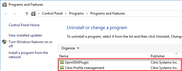 Enabling logon duration drill-down in Citrix Director - Programs and Features with Citrix UPM and WMI plugin